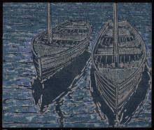 Dinghies Reflected (black paper)