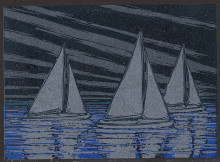 Night Sky Regatta (on black paper)