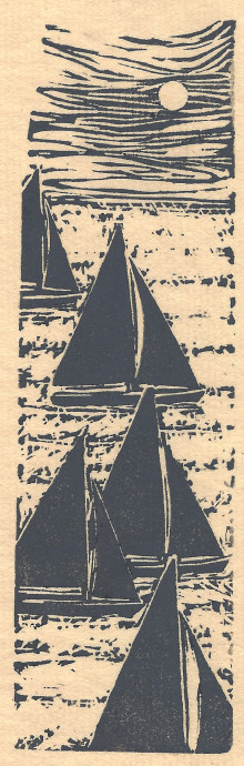Sailing Sketch (on creme paper)