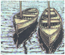 Dinghies Reflected (white paper)