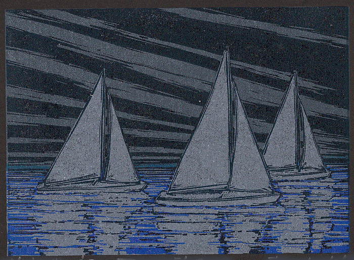 Night-Sky-Regatta-(on-black-paper)
