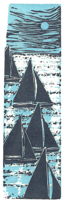 Sailing Sketch, blue